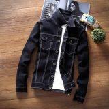ราคา เสื้อเกาหลีเสื้อกันหนาวยีนส์ผู้ชายไซส์พิเศษไซส์ใหญ่พิเศษ เส้นสีขาวสีดำเสื้อกันหนาว เป็นต้นฉบับ Other