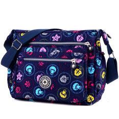 ซื้อ นางสาวสบายๆกระเป๋าเป้สะพายหลังกระเป๋าถือใหม่ สีน้ำเงินเข้มเห็ด
