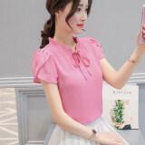 ราคา เสื้อบ้านเกาหลีชีฟองใหม่แขนสั้น ซีดดอกกุหลาบใบบัวแขน Unbranded Generic ออนไลน์