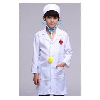 ชุดแฟนซี เสื้อกาวน์ คุณหมอ  ชุดคุณหมอ พร้อมหมวกและผ้าปิดปาก(แขนยาว)