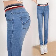 ราคา กางเกงยีนส์เกาหลีใหม่เอวยางยืด Xl สีฟ้าอ่อน Unbranded Generic เป็นต้นฉบับ