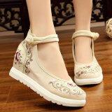 ปักรองเท้าเก่าปักกิ่งรองเท้าผ้าเพศหญิงในฤดูใบไม้ผลิใหม่ ลอเรลเมตร เป็นต้นฉบับ