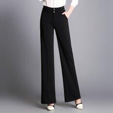 ขาย กางเกงแนวโน้มกางเกงหลวมเอวสูงบาง สีดำ ออนไลน์ ใน ฮ่องกง