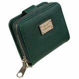 ขาย กระเป๋าสตางค์หนังสุภาพสตรีใบสั้นพร้อมช่องซิปใส่เหรียญ สีเขียว Unbranded Generic ผู้ค้าส่ง