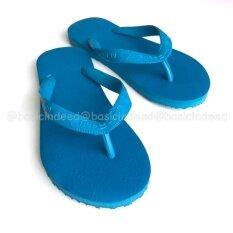 ดาวเทียม รองเท้าแตะหูหนีบ สีน้ำเงินล้วน ถูก
