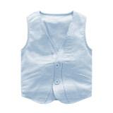 ซื้อ เสื้อสเวตเตอร์ถักผ้าฝ้ายเสื้อกั๊กใหม่ฤดูใบไม้ผลิและฤดูใบไม้ร่วงบางส่วน แสงสีฟ้า ใหม่