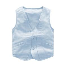 ขาย เสื้อสเวตเตอร์ถักผ้าฝ้ายเสื้อกั๊กใหม่ฤดูใบไม้ผลิและฤดูใบไม้ร่วงบางส่วน แสงสีฟ้า ถูก ใน ฮ่องกง