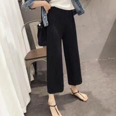 ราคา เกาหลีฤดูใบไม้ผลิสีดำและฤดูร้อนใหม่กางเกง สีดำ ใหม่ ถูก