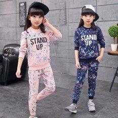 ส่วนลด Ai Dou Er ชุดผ้าคอตตอน แขนยาวขายาว ลายการ์ตูน เด็กผู้หญิง สีชมพู สีชมพู Unbranded Generic ใน ฮ่องกง