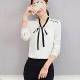 ขาย ซื้อ ใหม่โบว์ลูกไม้คอวี Bottoming เสื้อสีขาวเสื้อ สีขาว ใน ฮ่องกง