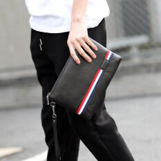 ราคา ราคาถูกที่สุด กระเป๋าคลัตช์ สีฮิต สไตล์นักธุรกิจหนุ่ม สีดำ สีดำ