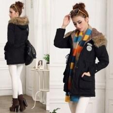 ราคา Lady Women เสื้อกันหนาวฤดูหนาวเสื้อนอกเสื้อคลุมยาว Outwear ใหม่