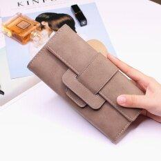 โปรโมชั่น ยุโรปและอเมริกาหญิงกระเป๋าสตางค์ใหม่นางสาวกระเป๋าสตางค์ สีน้ำตาล ถูก