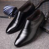 ซื้อ เกาหลีหนังธุรกิจชายเสื้อผ้ารองเท้าผู้ชายรองเท้าหนัง สีดำชุดเท้า Unbranded Generic เป็นต้นฉบับ