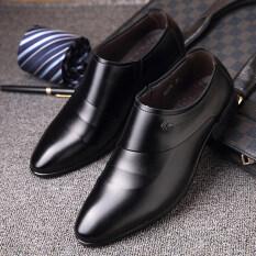 ขาย เกาหลีหนังธุรกิจชายเสื้อผ้ารองเท้าผู้ชายรองเท้าหนัง สีดำชุดเท้า ออนไลน์