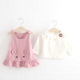 ราคา เสื้อยืดเด็กทารกชุดสายรัดสาว สีชมพู เป็นต้นฉบับ