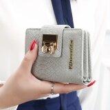 ขาย กระเป๋าสตางค์นางสาวกระเป๋าสตางค์ขนาดเล็กเกาหลีหญิงมินิ จระเข้ สีเทา ถูก ฮ่องกง