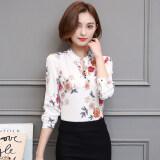 ราคา เสื้อเกาหลีเสื้อชีฟองหญิงแขนสั้นฤดูใบไม้ผลิและฤดูร้อน สีขาวแขนยาว ใหม่