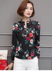 ราคา เสื้อเกาหลีเสื้อชีฟองหญิงแขนสั้นฤดูใบไม้ผลิและฤดูร้อน สีดำแขนยาว Unbranded Generic ฮ่องกง