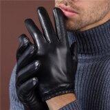 ทบทวน ที่สุด ถุงมือหนังแกะ แบบสั้น สำหรับขับรถมอไซค์ สีดำส่วนหนา หน้าจอสัมผัส