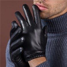 ขาย ถุงมือหนังแกะ แบบสั้น สำหรับขับรถมอไซค์ สีดำส่วนหนา หน้าจอสัมผัส Unbranded Generic ออนไลน์