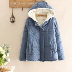ขาย ผ้าฝ้ายวรรณกรรมสีทึบหลวมคลุมด้วยผ้า สีฟ้า ราคาถูกที่สุด