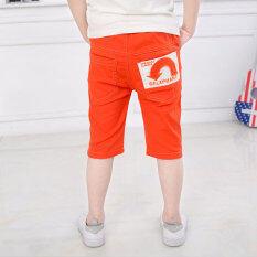 ซื้อ Bo Yu Ming Tong กางเกงลำลองผ้าฝ้ายเจ็ดส่วน สำหรับเด็กชาย สีส้ม ใหม่ล่าสุด