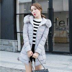 ขาย หนาหลาใหญ่สลิมบางแจ็คเก็ตเสื้อโค้ท สีเทาอ่อน ราคาถูกที่สุด