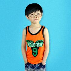 โปรโมชั่น โปรโมชั่นเกาหลีชายเด็กชายพิมพ์เด็กชายเสื้อกั๊กเสื้อ สีส้ม ฮ่องกง
