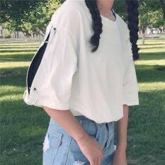 ฮาราจูกุเสื้อยืดเกาหลีลมหลวมแขนสั้น สีขาว ใน ฮ่องกง