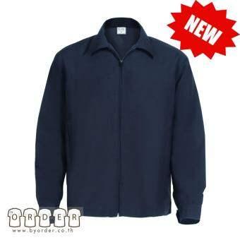 เสื้อแจ็กเก็ต เสื้อคลุม แจ็กเก็ตผู้บริหาร เสื้อกันลม เสื้อกันหนาว สีดำ