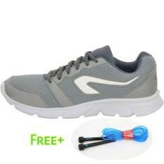 รองเท้าวิ่งจ้อกกิ้งสำหรับผู้ชาย สีเทา แถมฟรีเชือกกระโดด ใน กรุงเทพมหานคร