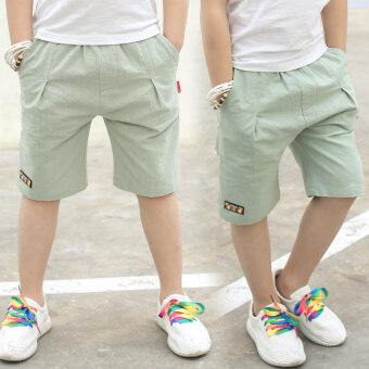 กางเกง5ส่วน เด็กชาย ผ้าฝ้าย100% แนวลำลอง ยี่ห้อXIIXOVE (สีเขียว) (สีเขียว)