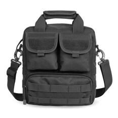 ขาย ซื้อ ออนไลน์ กระเป๋าเป้ ลุยกลางแจ้ง ใช้ได้ทั้งชายและหญิง กันน้ำ ลายพราง สีดำ สีดำ