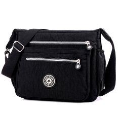 ขาย กระเป๋าสะพายกระเป๋าใหม่แพคเกจแนวทแยงกันน้ำไนลอนสบายๆ เที่ยงคืนสีดำ