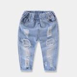 ซื้อ ทารกยีนส์สำหรับผู้ชายและผู้หญิงเด็กล้างน้ำกางเกงยีนส์กางเกง สมมาตรไม่เพียงพอที่จะป้องกันหลุมยีนส์กางเกง ฮ่องกง