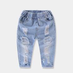 ขาย ทารกยีนส์สำหรับผู้ชายและผู้หญิงเด็กล้างน้ำกางเกงยีนส์กางเกง สมมาตรไม่เพียงพอที่จะป้องกันหลุมยีนส์กางเกง Unbranded Generic