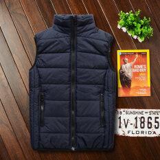 ราคา คู่เสื้อกั๊กลงเสื้อกั๊กฝ้ายชายฤดูใบไม้ร่วงและฤดูหนาวหนา สีฟ้า Unbranded Generic ออนไลน์
