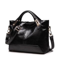 ขาย ถุงใหญ่แฟชั่นผู้หญิงกระเป๋าแพคเกจใหม่ สีดำ ใหม่