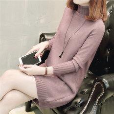 ราคา เสื้อสเวตเตอร์ถักนิตติ้ง คอสูงMuucotti สีชมพู สีชมพู ใน ฮ่องกง