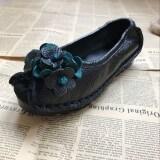 ขาย ย้อนยุคที่ทำด้วยมือเดิมรองเท้า ใบสีเขียวสีดำ ใบสีเขียวสีดำ ออนไลน์ ฮ่องกง