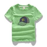 ราคา เสื้อผ้าฝ้ายไม้ไผ่เสื้อยืดฤดูร้อนเด็กแขนสั้น ผลไม้สีเขียว ถูก