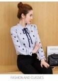 เสื้อเชิ๊ตหญิง แขนยาว ผ้าชีฟอง สไตล์เกาหลี แสงสีฟ้า แสงสีฟ้า ใน ฮ่องกง