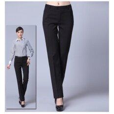 ราคา กางเกงขายาว กางเกงทำงาน กางเกงสูท กางเกงลำลอง ทรงตรง สีดำ Unbranded Generic เป็นต้นฉบับ