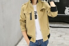 แฟชั่นเสื้อแจ็คเก็ตเด็กชาย แนวลำลอง ยี่ห้อNisibeile สีกากี สีกากี ถูก