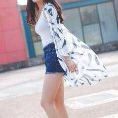 ซื้อ ชายหาดหญิงส่วนยาวป่าเวตเตอร์ถักเสื้อผ้าป้องกันแสงแดด ส่วนยาวสีขาวขนนก Unbranded Generic