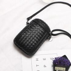 ซื้อ เกาหลีแพคเกจโทรศัพท์มือถือใหม่ สีดำ ที่มีเยื่อหุ้มสมองสามารถปรับสายคล้องไหล่