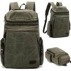 ราคา กระเป๋าเดินทางใบใหญ่ดีไซต์สวยเก๋แฟชั่น สไตส์กระเป๋าเป้ กระเป๋าสะพายหลัง สไตส์อเมริกัน สีเขียว ราคาถูกที่สุด