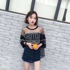 ขาย Harajuku เสื้อผ้าแฟชั่น เสื้อเกาหลีฤดูร้อนใหม่ลม สีดำ ออนไลน์ ฮ่องกง
