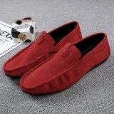 ขาย ขี้เกียจ Peas เวอร์ชั่นเกาหลีรองเท้าลำลองเหยียบ สีแดง Unbranded Generic เป็นต้นฉบับ